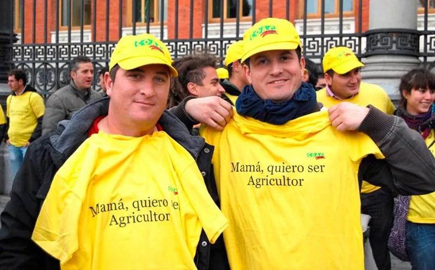 Jóvenes agricultores de Coag Andalucía.