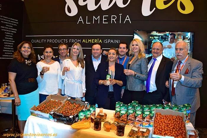 Expositor de Sabores Almería en el Salón de Gourmets 2017.