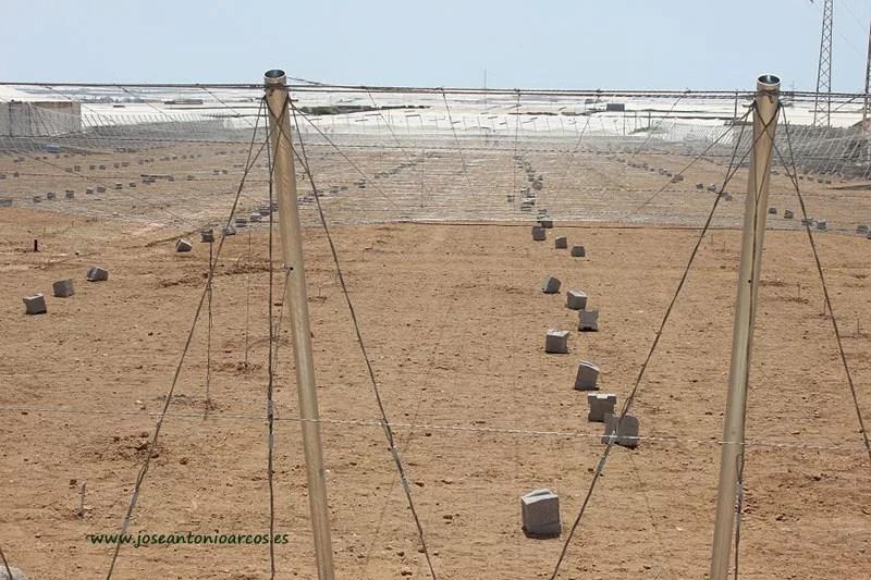Construcción de invernaderos en El Ejido, Almería.