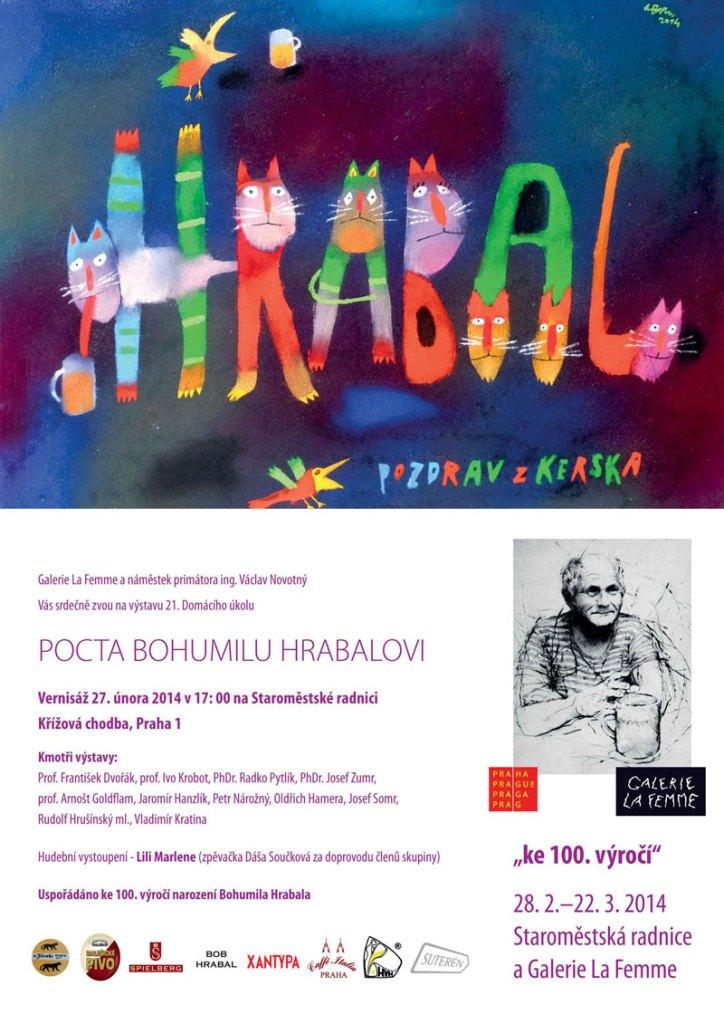 Pozvánka na výstavu B. HRABAL