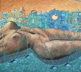 Josef Achrer Tanzanie v zajetí 92 x 83 cm