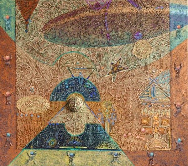 Josef Achrer UFO př.n.l. 132 cm x117cm