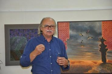 Josef Achrer ve Vyškově na vernisáži výstavy Ohlédnutí