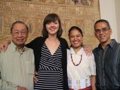 Consie Lozano-Taguba (third from left), with Prof. Sison, Florence and Prof. Mario Fumerton