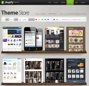 Shopify's Theme Store Selection