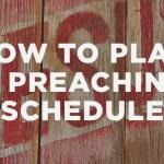 Planning a Preaching Calendar
