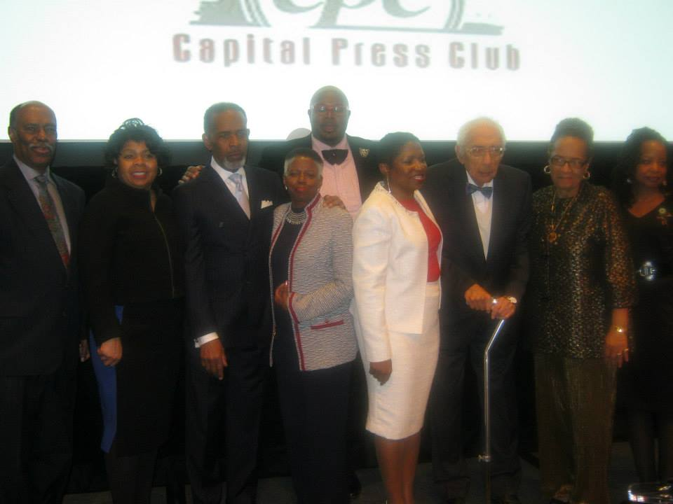 "Washington's Capital Press Club honored Richard Prince, left, in 2014 as ""The Journalist's Journalist"" for ""stellar leadership on coverage of diversity in the media."""