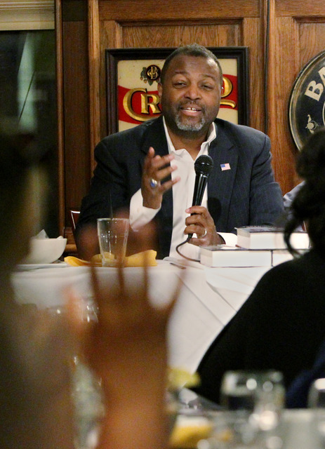 """Malcolm Nance, counterterrorism expert and author of a new book on ISIS, tells journalists that declarations by Muslim leaders that """"ISIS is the enemy of Islam"""" had not received enough attention. (Credit: (Sharon Farmer/sfphotoworks)"""
