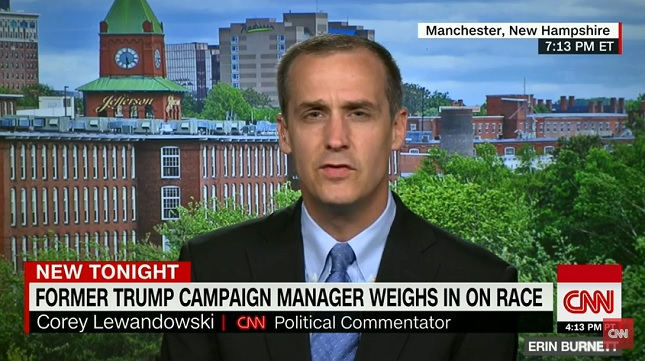 Corey Lewandowski had multiple meetings with prospective television network employers hours after being fired by Donald Trump.
