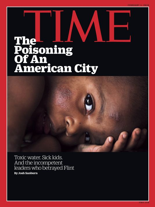 In January, Regina Boone's photo of a 2-year-old child from Flint, Mich.,was chosen as the image for a Time magazine cover.