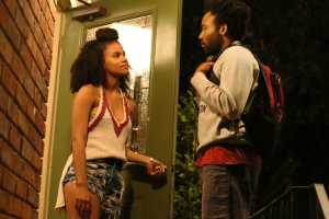 "Zazie Beetz and Donald Glover in ""Atlanta."" (Credit Quantrell Colbert/FX)"