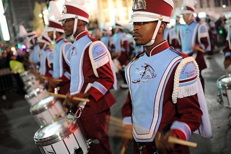 The Great Tornado marching band of Talladega College.