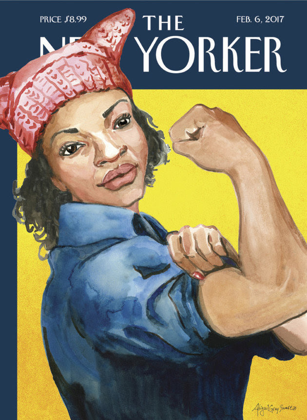 """The March"" by Abigail Gray Swartz. the latest New Yorker cover, makes reference to the recent Women's March on Washington held on Jan. 21."