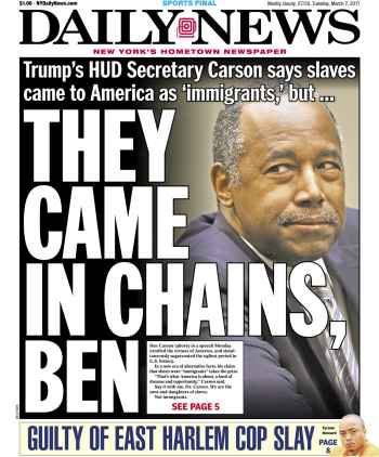 Tuesday's Daily News in New York.