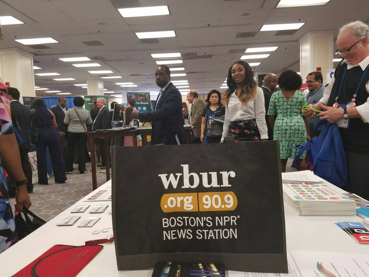 WBUR-FM in Boston, an NPR affiliate, recruited at the career fair last year at the joint convention of the National Association of Black Journalists and the National Association of Hispanic Journalists. (Credit: scoopeasy)