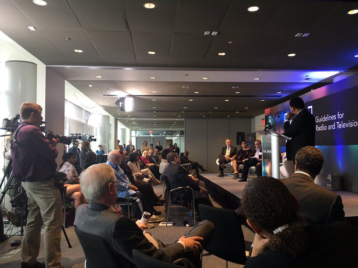 The National Association of Broadcasters and the NAB Education Foundation unveiled its guide to covering race Wednesday at the Newseum. (Credit: Rochelle Metzger/Twitter)