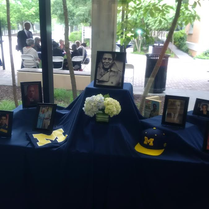 Roger Wilkins, a proud graduate of the University of Michigan, is remembered Saturday at Sidwell Friends School in Washington. (Credit: Richard Prince)
