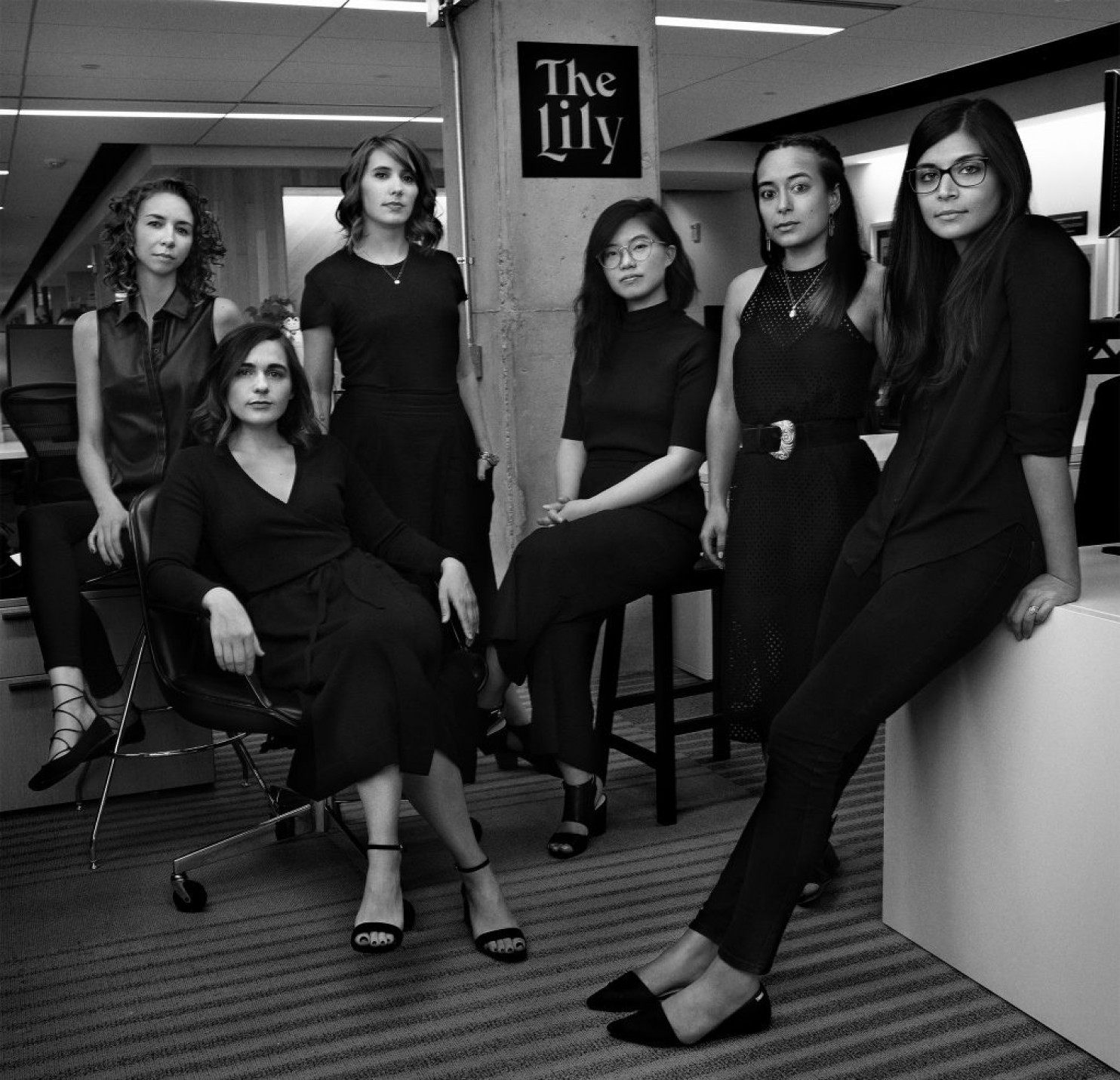 "The staff of the Washington Post's new ""Lily"" product for millennial women. (Credit: for the Washington Post)"