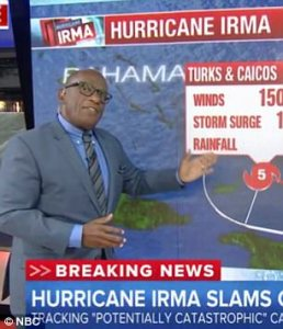 NBC's Al Roker warns viewers about the approach of Hurricane Irma. (Credit: NBC)