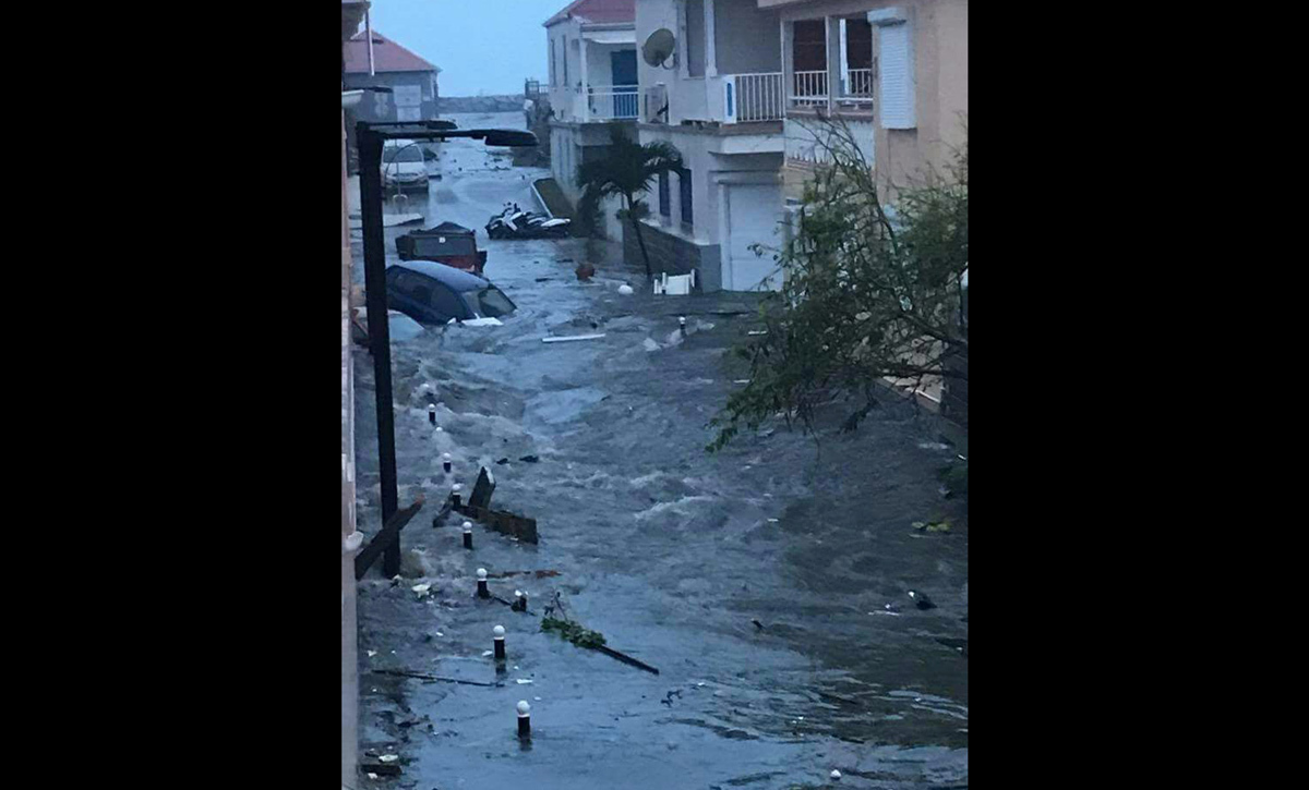 The aftermath of Hurricane Irma Thursday on Sint Maarten, the Dutch part of Saint Martin island. (Credit: Netherlands Ministry of Defence)