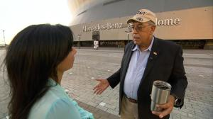 Retired Lt. Gen. Russel Honore, right, and Michelle Miller (Credit: CBS News)