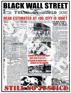 Close to 300 blacks were killed in Tulsa, Okla., in 1921.