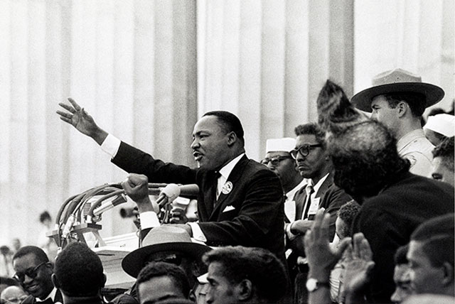 Martin Luther King Jr. at the March on Washington in 1963 (Credit: Library of Congress)