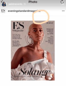 Solange and her missing crown