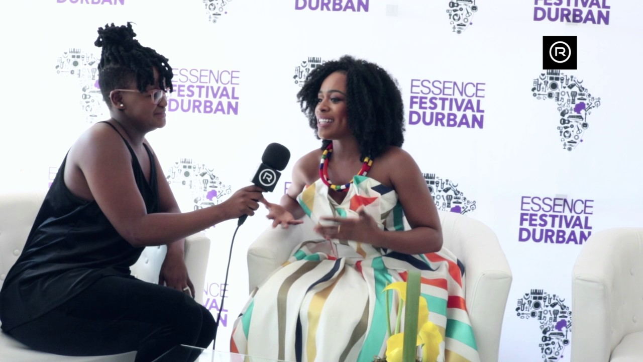 South African singer-songwriter Palesa Masiya chats with Nomzamo Mbatha, actress and model, as they promote the Essence Festival Durban 2017. (Credit: YouTube)