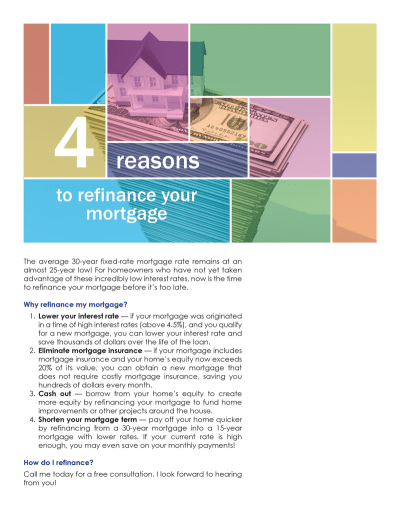 FARM: 4 reasons to refinance your mortgage   first tuesday Journal