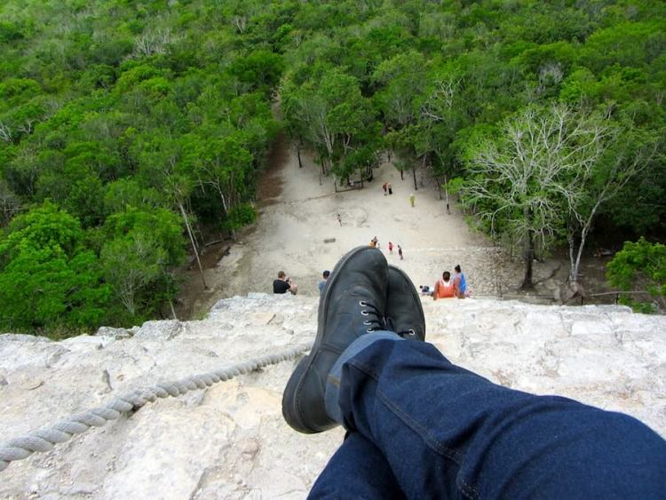 The view form atop Coba