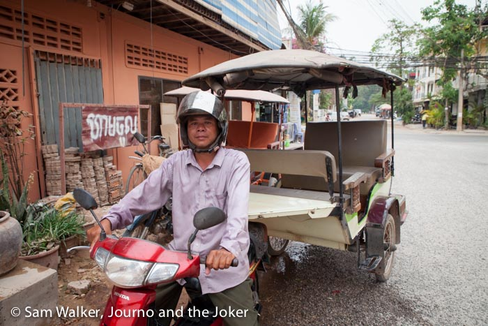 Cambodian tuk tuks are a great way to get around