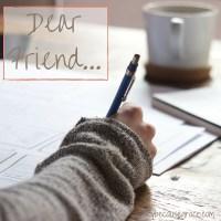 DearFriend...