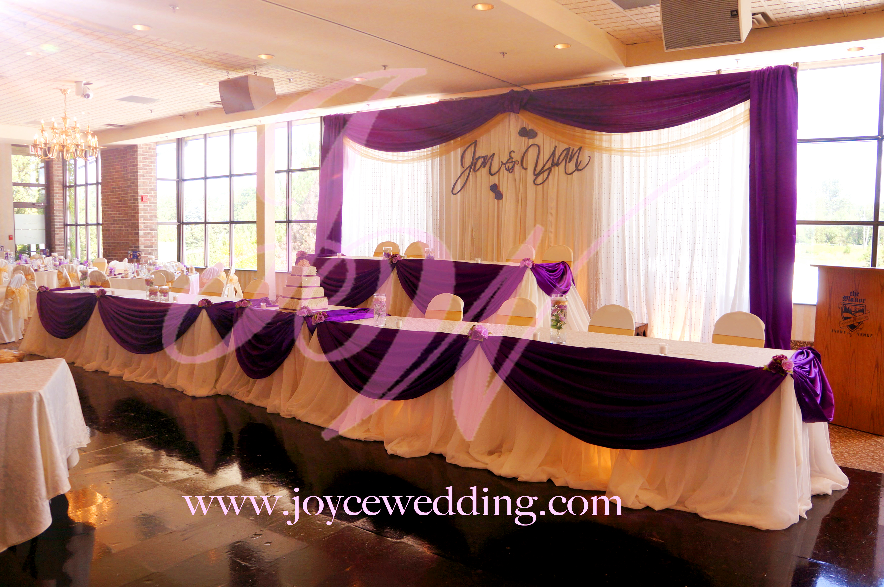 purple and gold decoration for wedding dinner reception purple and gold wedding The Manor prupel and gold decoration 5
