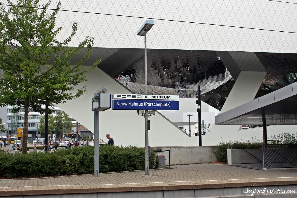 Stuttgart S-Bahn Station Neuwirtshaus Porscheplatz for the Museum