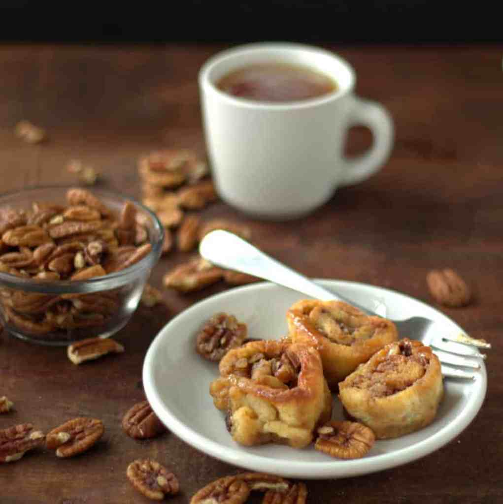 low carb pecan sticky buns