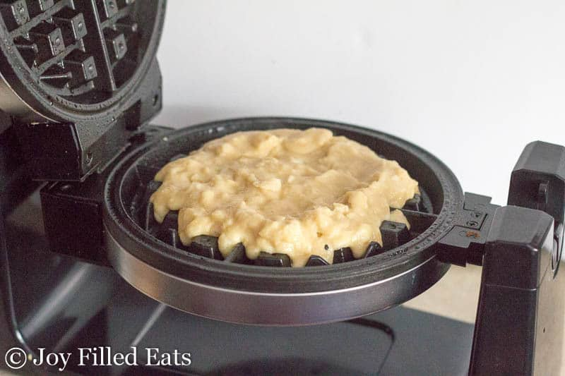 Coconut Waffle with Strawberry Sauce - Dairy/Grain/Gluten Free, Low Carb, THM S