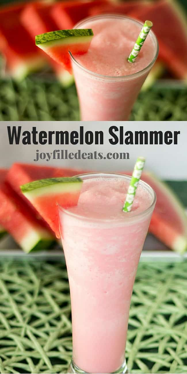 Frozen Watermelon Slammer - I've been craving one of these for years & I'm thrilled to now have a low carb & sugar free alternative. This is so refreshing on a hot day.
