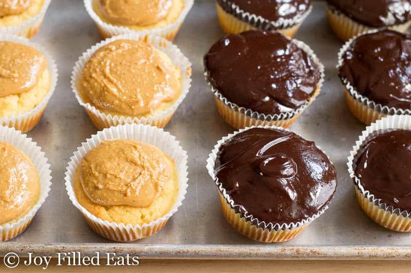 Tagalong Cupcakes - Low Carb, Sugar/Grain/Gluten Free, THM S