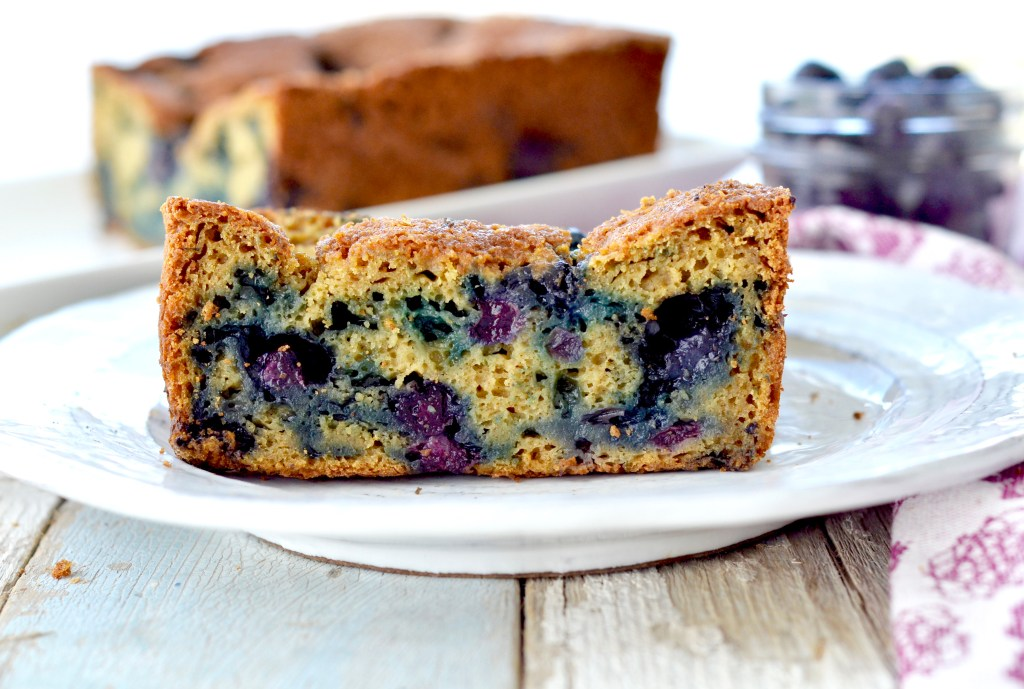 Healthy Zucchini Blueberry Bread! Recipe The perfect healthy breakfast or snack packed full of fruits and vegetables! Gluten-free and refined-sugar free!