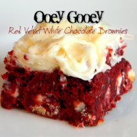 OOEY GOOEY RED VELVET BROWNIES WITH WHITE CHOCOLATE