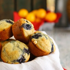 Blueberry White Chocolate Pancake Muffins 600