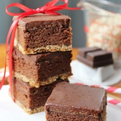 Triple Layer Oatmeal Cookie Brownies by Yesterfood 1