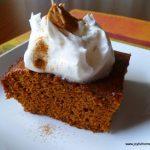 Gingerbread with Cinnamon Cream