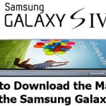 How To Download Manual For Samsung Galaxy S4: Know It All