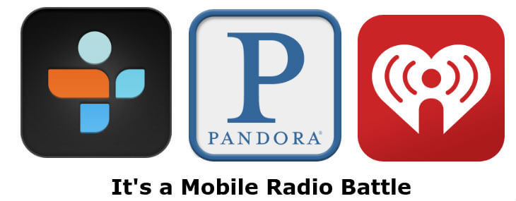 Tune in radio vs pandora vs  i heart radio