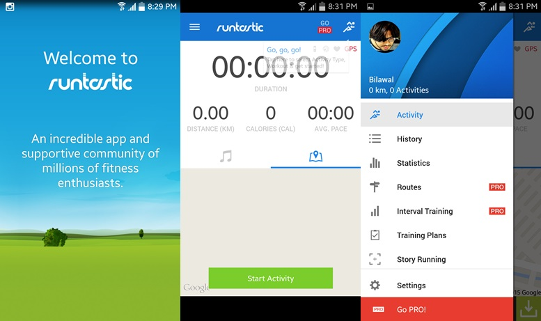 Runtastic - running apps for Android