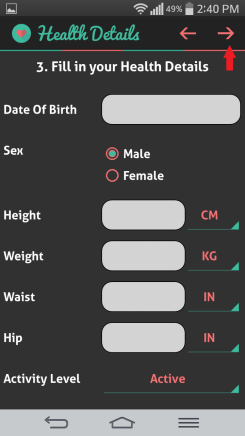 HI health tracker details