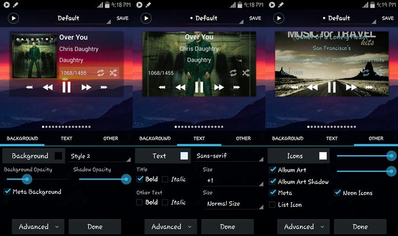 using Poweramp Music Player