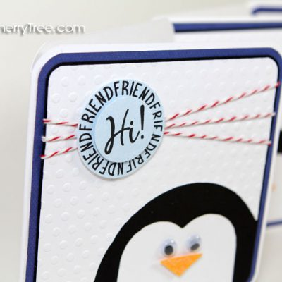 Friendship Penguin Card Using All Around Sentiments Stamp